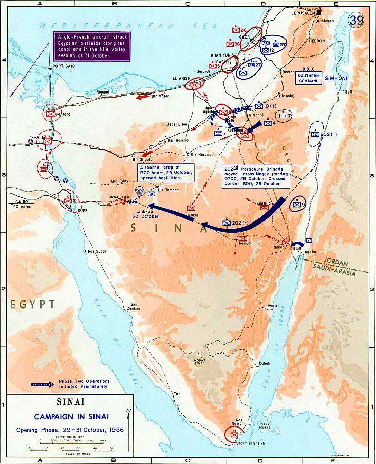 Http Www Emersonkent Com Images Sinai Oct 1956 Jpg Geschichte Naher Osten