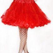 Hell Bunny -Petticoat Tyllihame -Lyhyt Punainen
