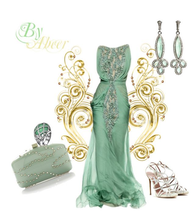 green by leebyah on Polyvore featuring polyvore, fashion, style, Tabitha Simmons, Valentino, Armenta, LARA and clothing