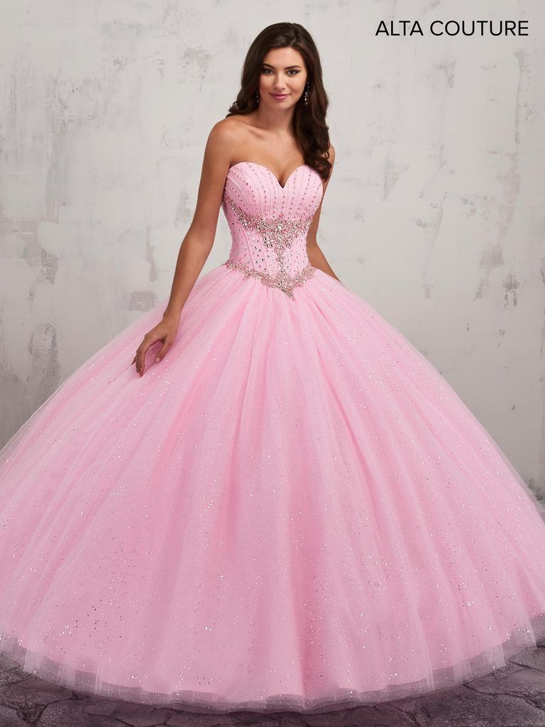 9188a17877a Strapless Quinceanera Dress with Train by Alta Couture MQ3007-Mary s  Bridal-ABC Fashion