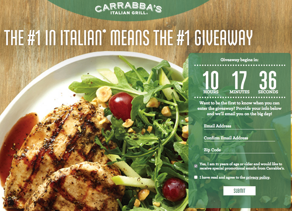 Carrabba\'s Coupon: Free Appetizer, Entree, or Small Plate | Small ...