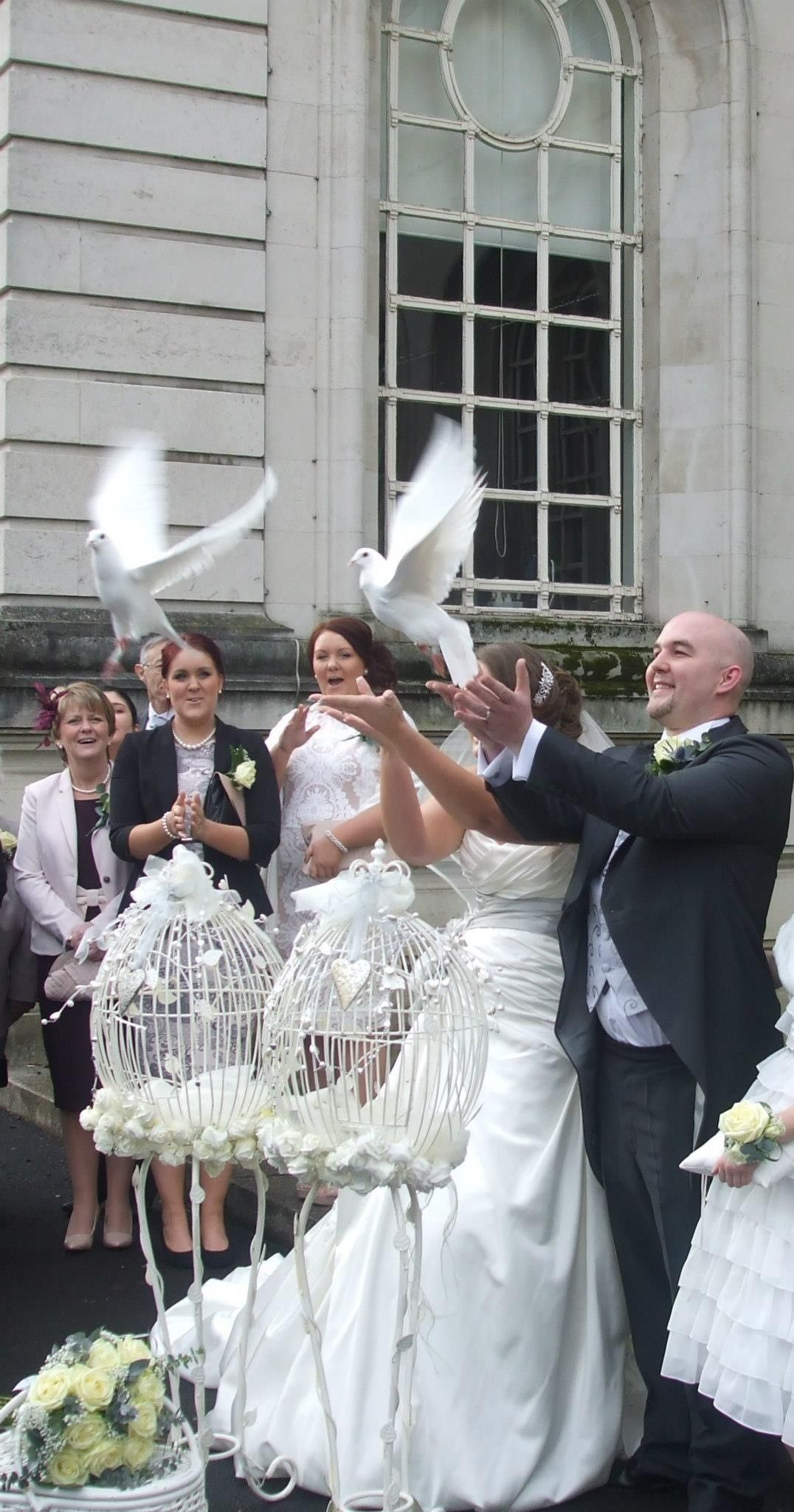 Lovey Dovey UK offer beautiful, pristine white doves to