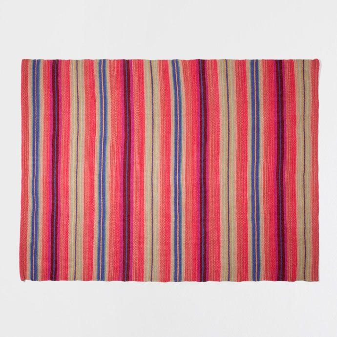 Bunter Teppich Aus Baumwolle Ideen Rund Ums Haus Pinterest