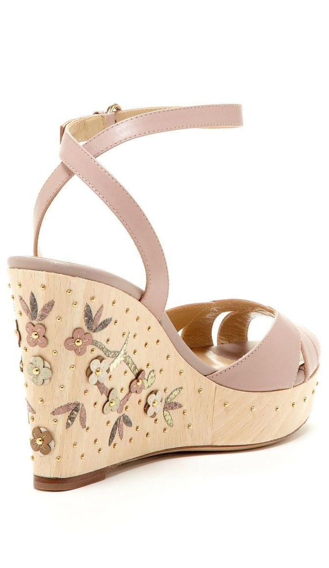 af84b039c2b252 Valentino Floral Wedge Sandal