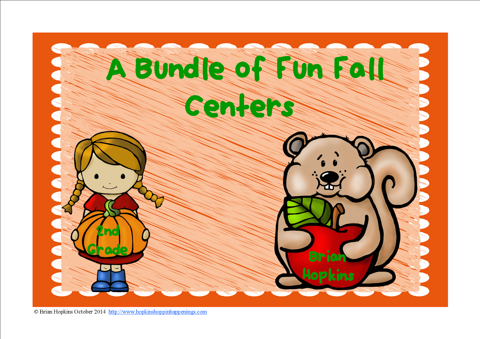 Fall 2nd Grade Centers