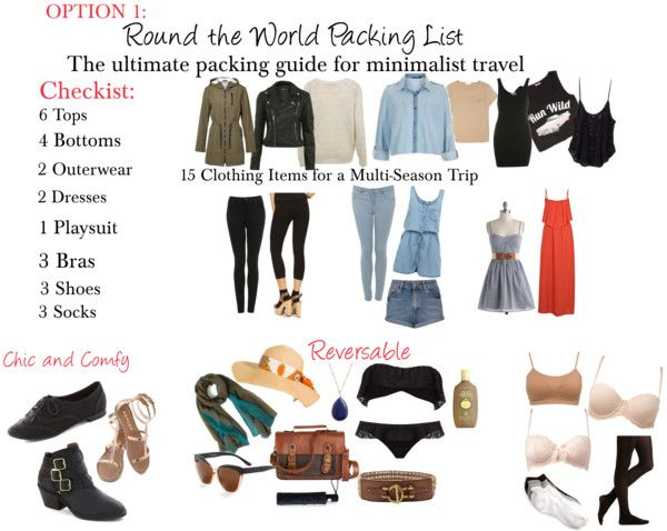 0df47cfbb34c Just one option for your RTW trip  ) Click through to find out what you  need to pack if you re traveling round the world!
