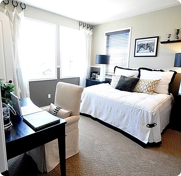 Guest Room Decorating Ideas For A Dual Purpose Space Small Guest Bedroom Guest Room Office Combo Guest Bedroom Office