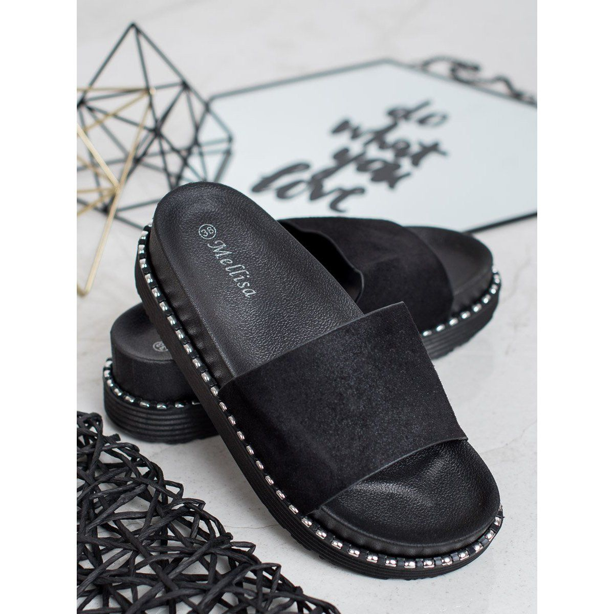 Melisa Klapki Na Koturnie Czarne Shoes Clogs Dansko Professional Clog