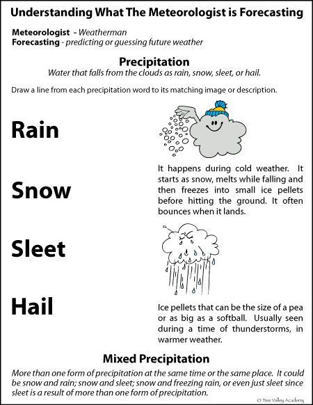 Checking The Weather Forecast For Kids Weather Homeschool And - Weather forecast printable