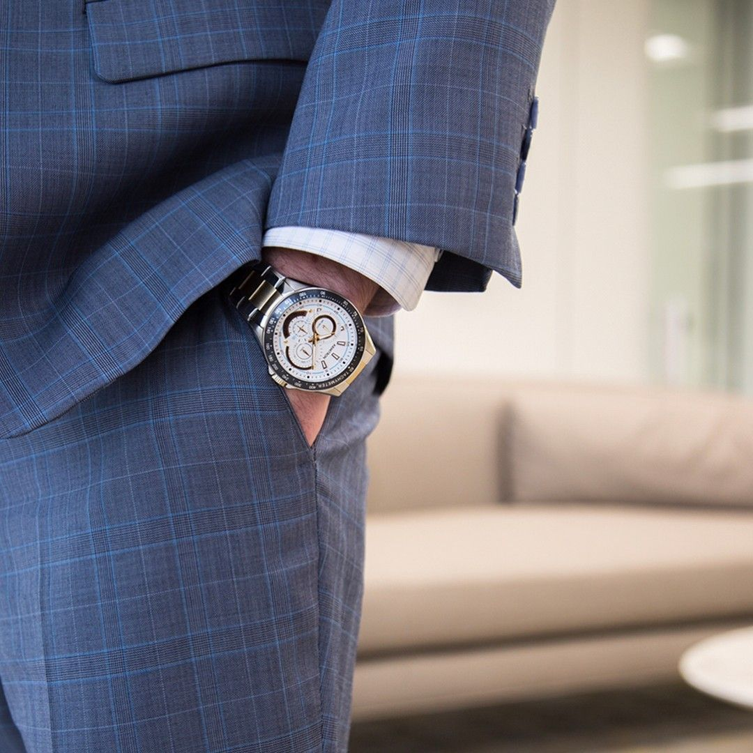 A classic twotone watch like this armitron mens style
