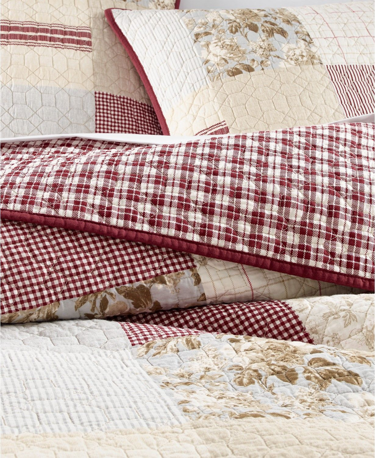 Martha Stewart Collection Farmhouse Reversible Patchwork