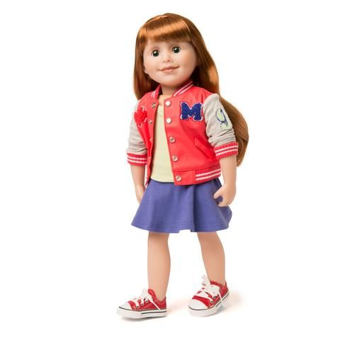 Varsity Jacket Outfit for 18 inch dolls | Maplelea Canadian Girl #varsityjacketoutfit