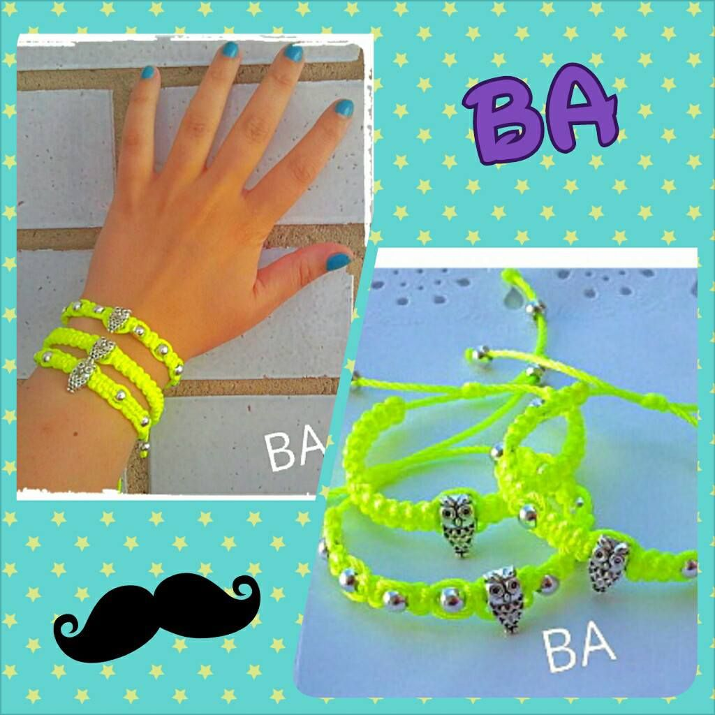 Pulsera Fluor  http://brochesasturianos.blogspot.com.es/