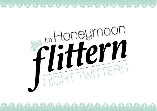 liebelein-will: Hochzeit // Wedding // Flitterwochen // Hochzeitsreise // Honeymoon // Postkarte //flittern nicht twittern // mint // grün & schwarz // Copyright by liebelein design