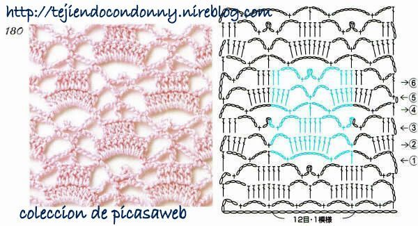 Puntos a crochet y sus diagramas - Imagui