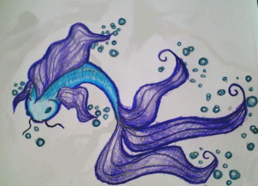 Koi Betta Hybrid Fish By Kittahxd Fish Drawings Betta Fish Tattoo Koi Fish Drawing