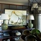 love this room...the lamps, the glass, the mirror, the shells, oh my oh my oh my!!!