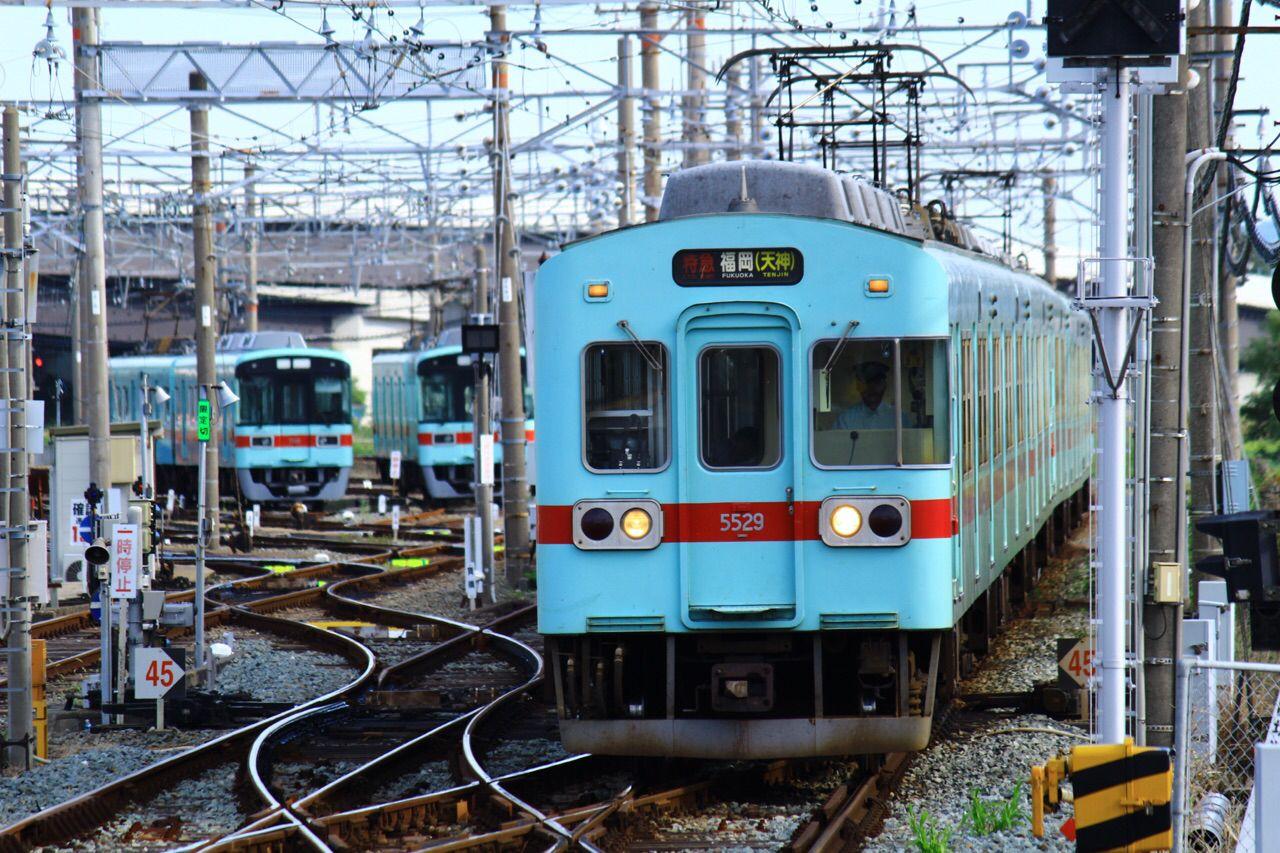 西鉄5000形 柳川駅 鉄道 写真 西鉄 列車