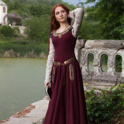 Medieval Woolen Dress Green Sleeves Limited Woolen Dresses Dresses Royalty Dress
