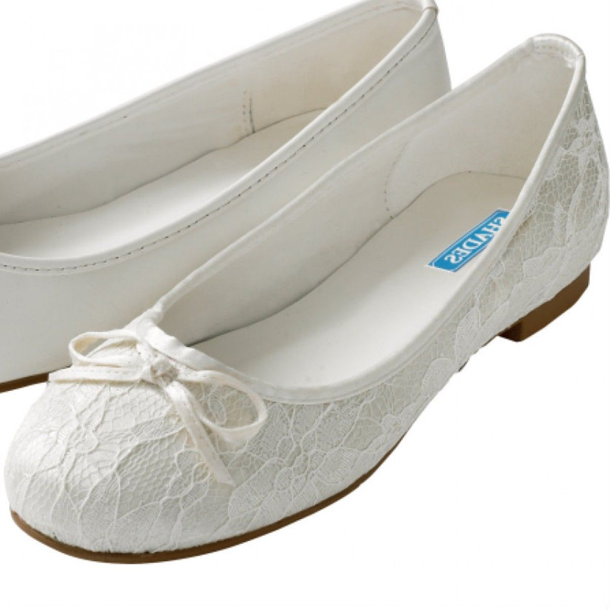 Amanda 909 By Shades Ivory Lace Vintage Flat Wedding Or Occasion Shoes