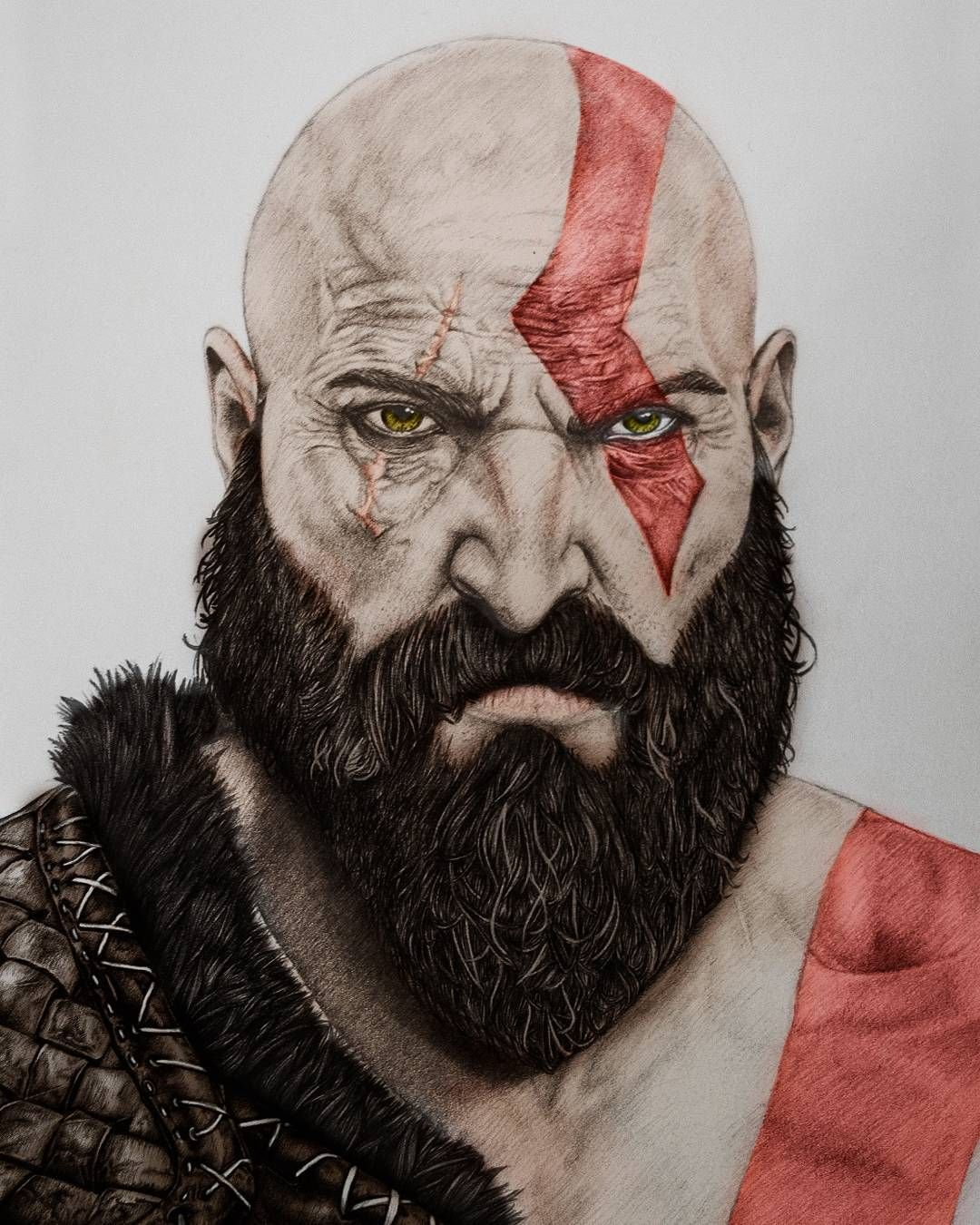Decided To Play With My Kratos Drawing In Photoshop What Do