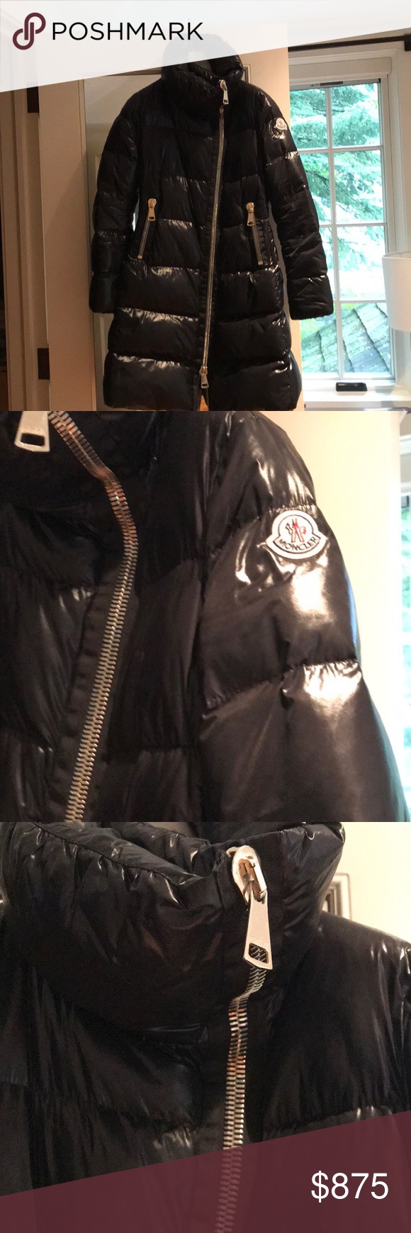 Moncler Joinville Asymmetric Puffer Jacket Sz 1 This Is A Size 1 Long Down Jacket In Shiny Black The Zipper Is A Statement Wi Jackets Moncler Clothes Design [ 1740 x 580 Pixel ]