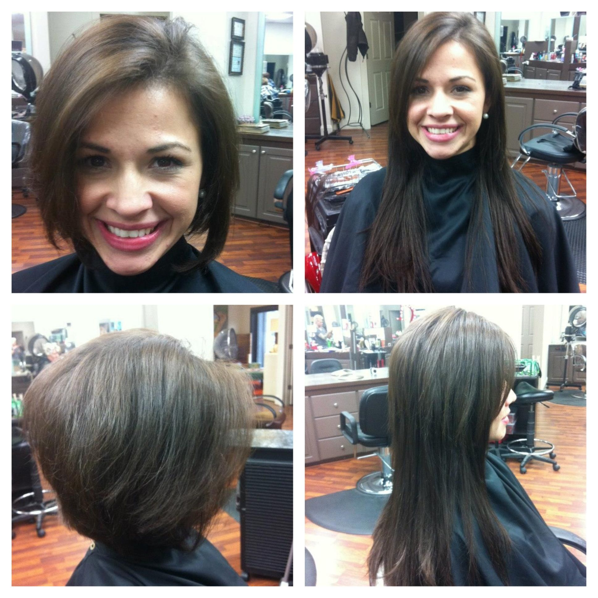 Before And After Extensions Short Hair Long Hair Lex Moore Style
