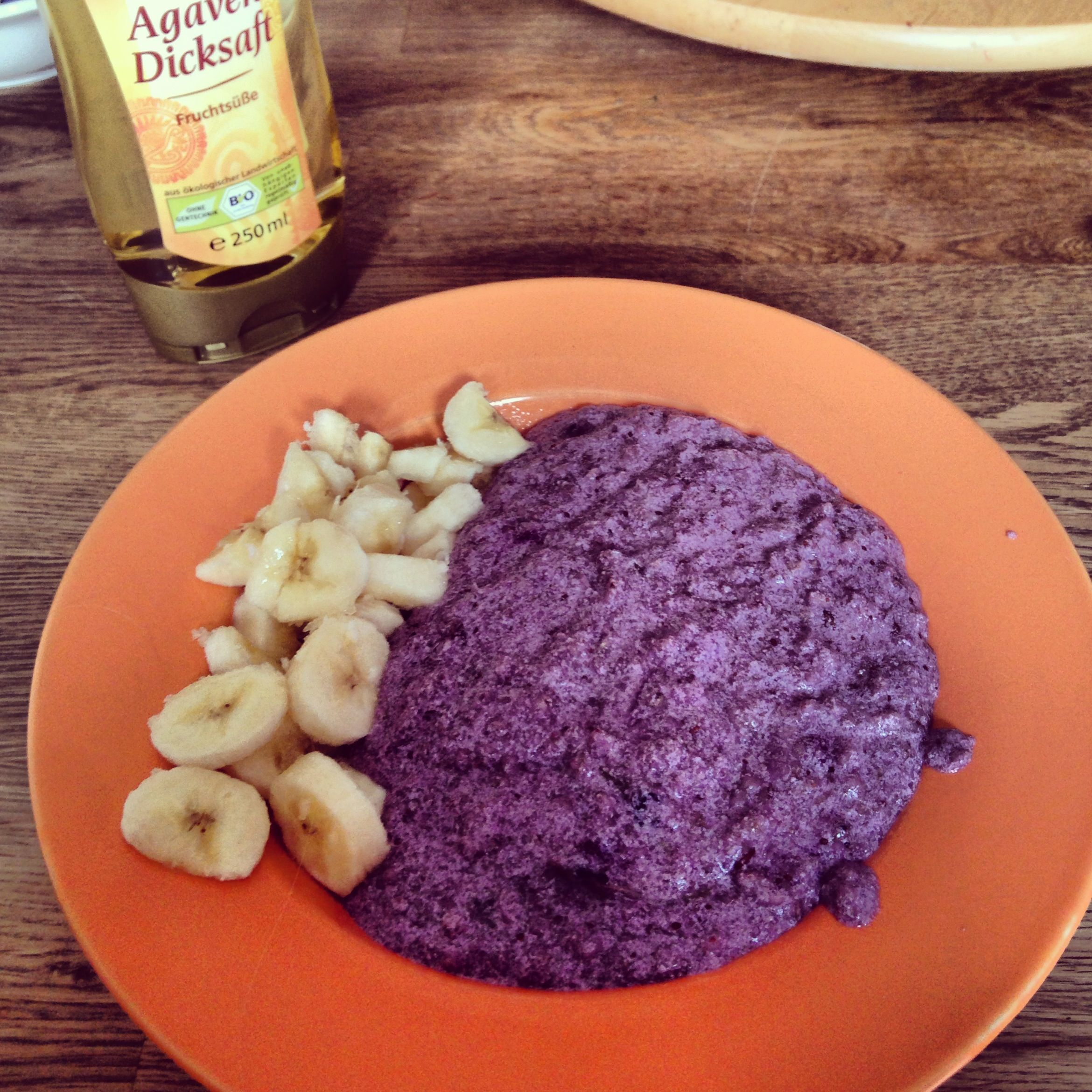 Agave Frucht Purple Oatmeal With Banana And Agave Nectar Oatmeallover 3