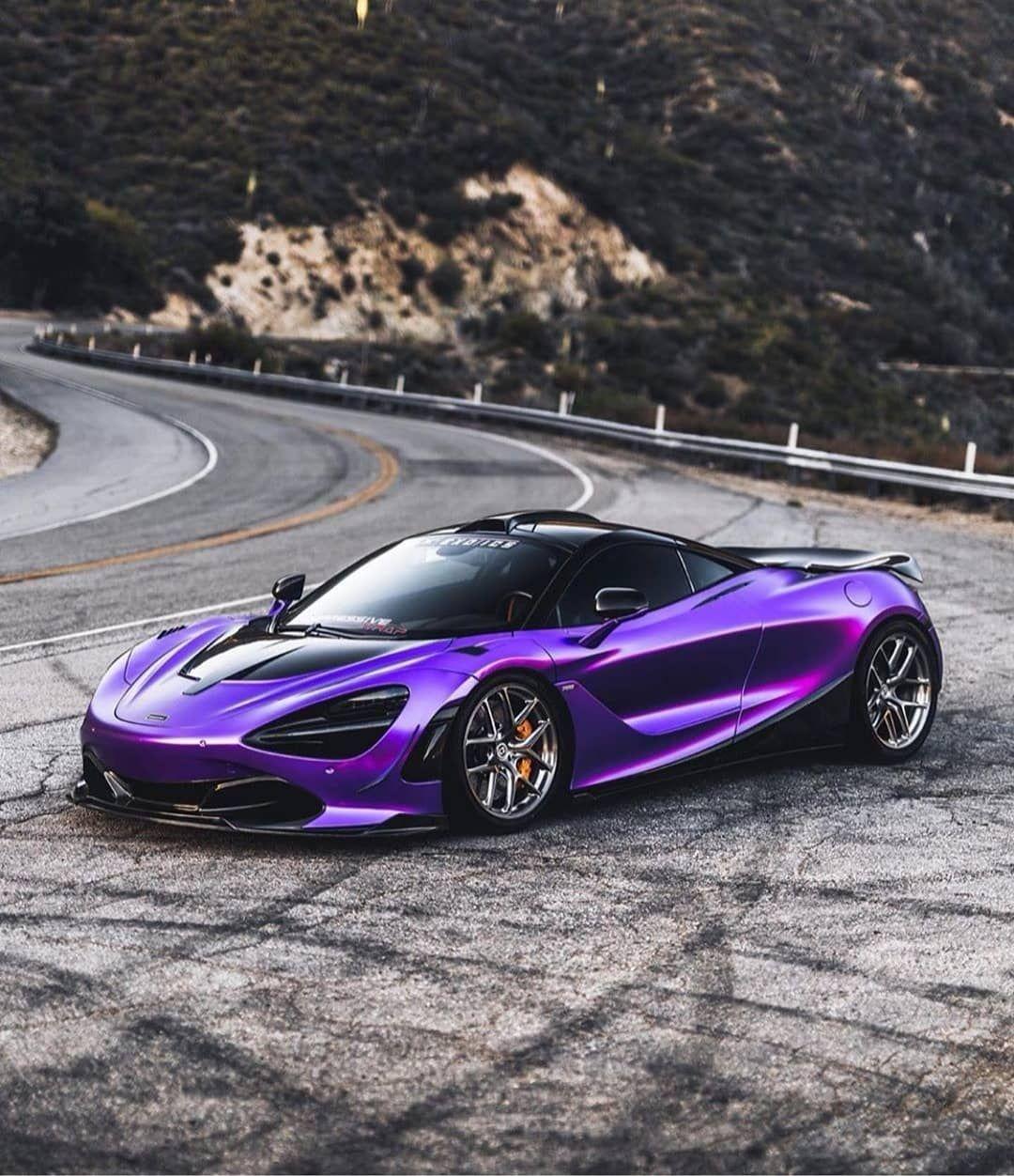 Mclaren 720s In Frozen Purple Chrome Super Cars Sports Car