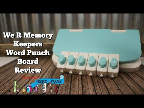 Word Punch Board Review and how I move the letters closer