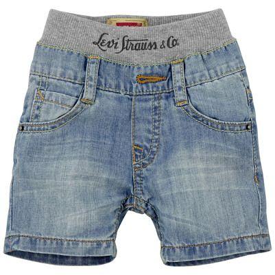 Levi's Short en denim bleu stoné et côtes stretch sur la taille Denim - 64882 | Melijoe.com