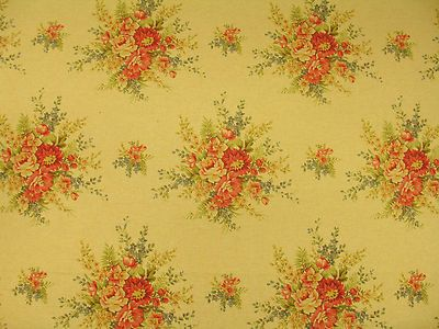 Ralph Lauren Shabby Cottage Chic Floral Bouquet Cotton Linen Upholstery Fabric--it'd look great in a wing-back chair...