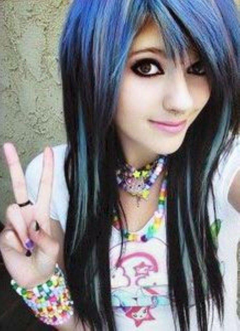 cute emo hairstyles long hair