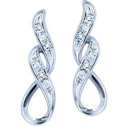 8f227e053d484 Ben Moss Jewellers 10k White Gold and Diamond Earrings | Jewelery ...