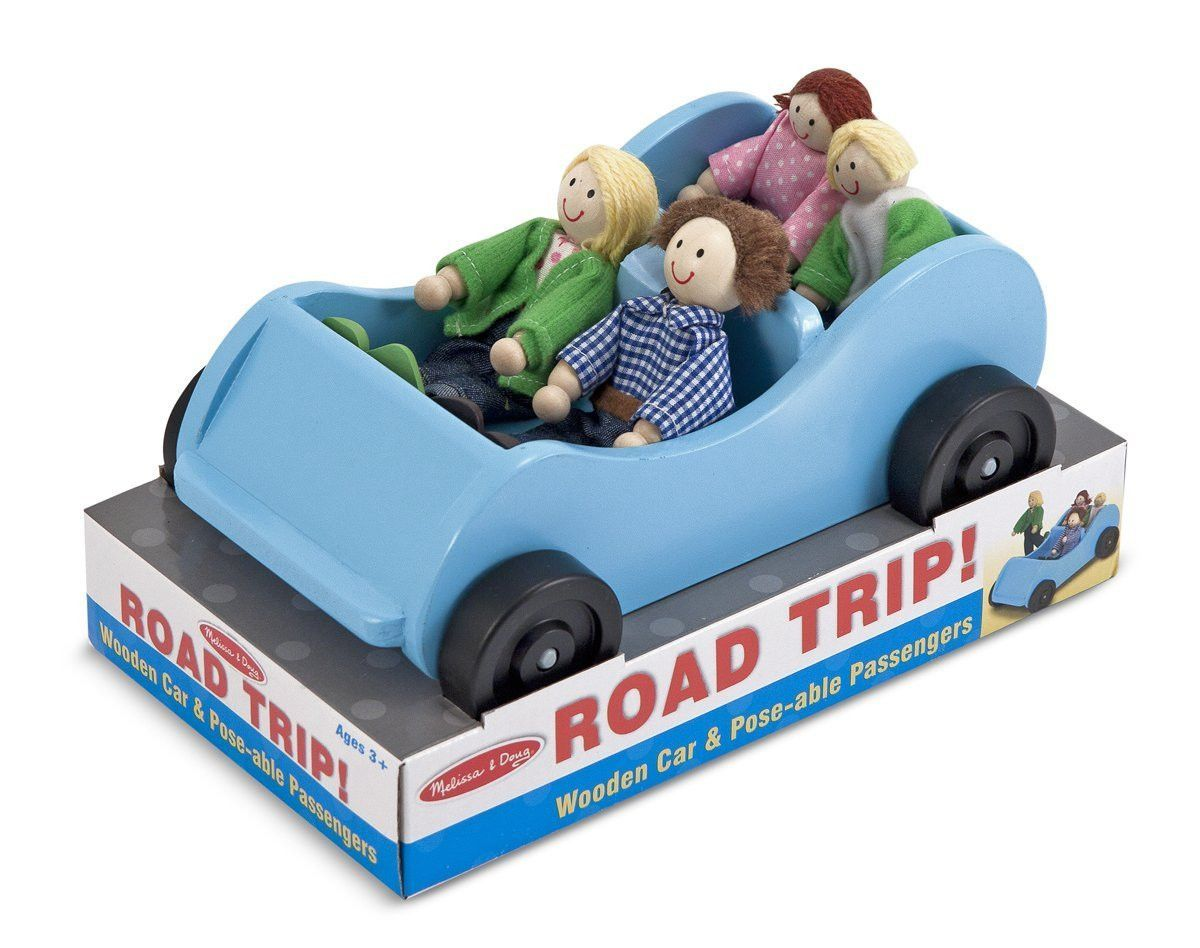 Baby toys car  Melissa u Doug Road Trip Wooden Car and PoseAble Passengers