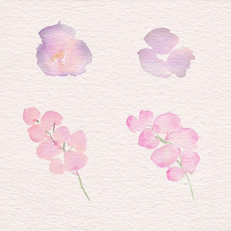 Idea By Estelle Hamman On 1 Art Floral Free Watercolor