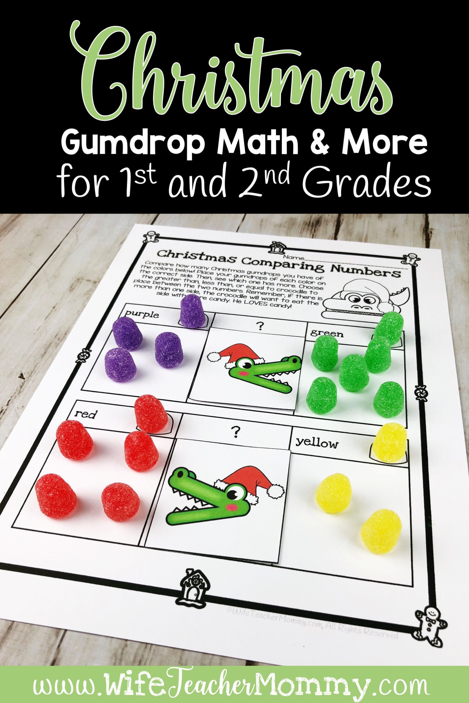 Christmas Gumdrop Math Activities Amp More For 1st And 2nd