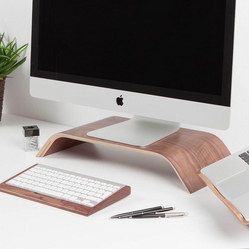les supports en bois pour votre bureau par woodcessories. Black Bedroom Furniture Sets. Home Design Ideas