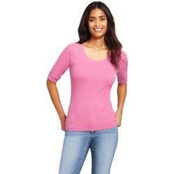 Photo of Half Sleeve Cotton Sweater – Pink – 44-46 von Lands & # 39; End Lands & # 39; EndLands & # 39; Ende
