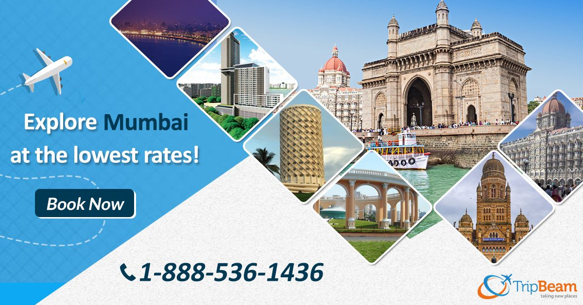Plan a Mumbai trip? INDIA's biggest and most beautiful city. Visit Mumbai and explore the best places with #Tripbeam at the lowest airfare.  For more information: Contact us at: 1-888-536-1436 (Toll-Free), info@tripbeam.ca.  #Mumbai #IndiaTravel #VisitMumbai #mumbailife #cheapflights #travel #vacations #CheapFlightBooking #FlightDeals #bestvacationplaces #ExploreMumbai