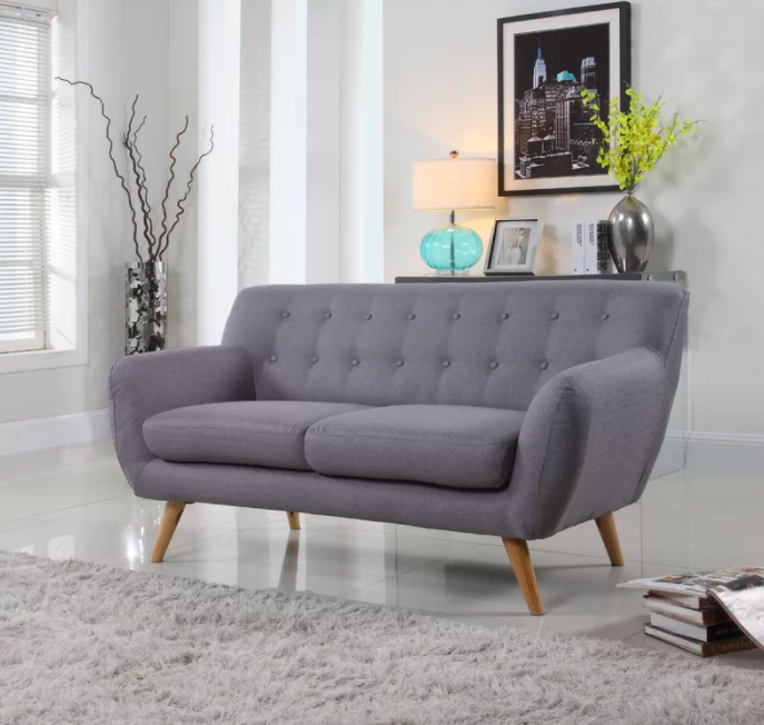 27 Inexpensive Couches You Ll Actually Want In Your Home Mid Century Modern Sofa Mid Century Sofa Modern Sofa