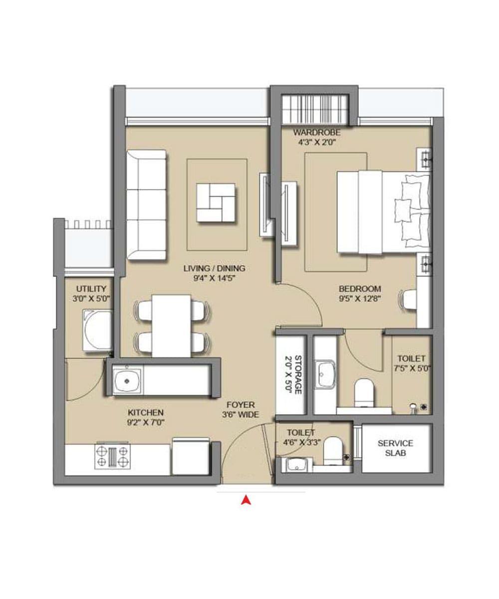 Floor Plan Lodha Casa Viva Floor Plans Interior Design Plan Small House Interior