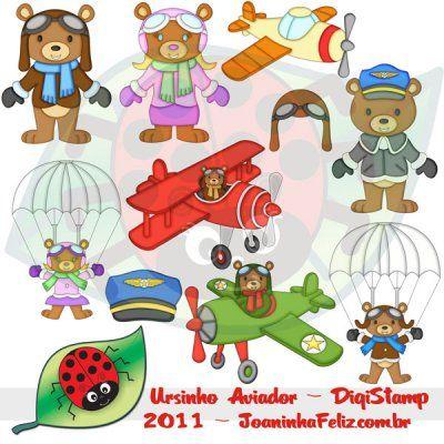Ursinho Aviador, Teddy Aviator, Digital kits