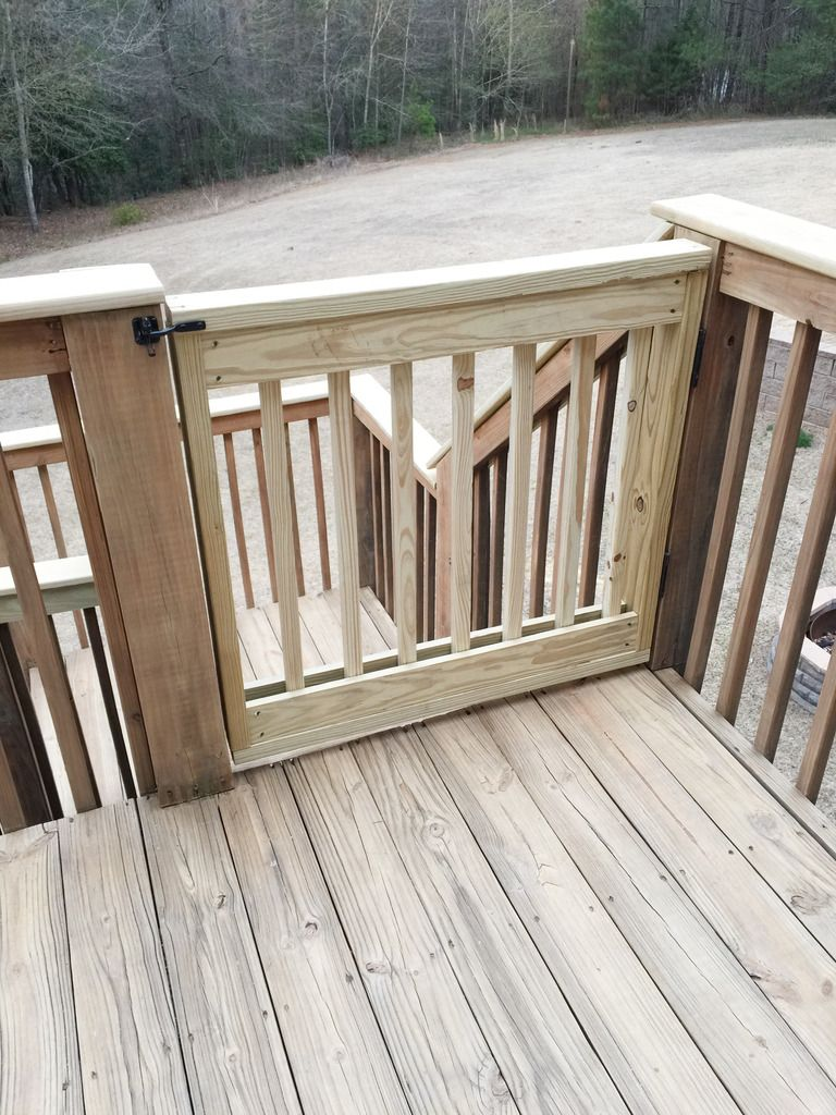 How to build your own deck stair gate stair gate deck stairs baby gate building baanklon Images