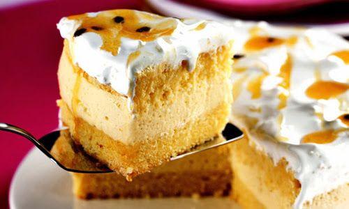 Receita de Bolo-mousse de Maracujá com Marshmallow , Delicioso e fácil de fazer! Aprenda a Receita!