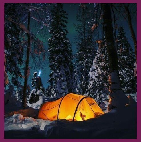 Essential Winter Camping Hacks Acampada   Zelten im schnee ...