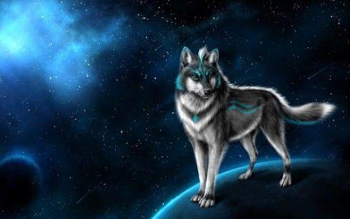 Galaxy Background Wallpaper Galaxy Cool Wolf