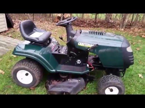 The Lt1000 Lawn Tractor Its Features Accessories And Where To >> Working On The Craftsman Lt1000 Project Tractor Plan B Youtube