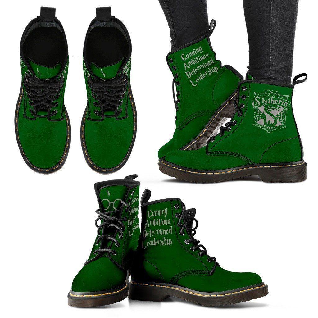 6b9337db9c75 Gryffindor - Slytherin - Ravenclaw - Hufflepuff Women s Premium Suede Boots