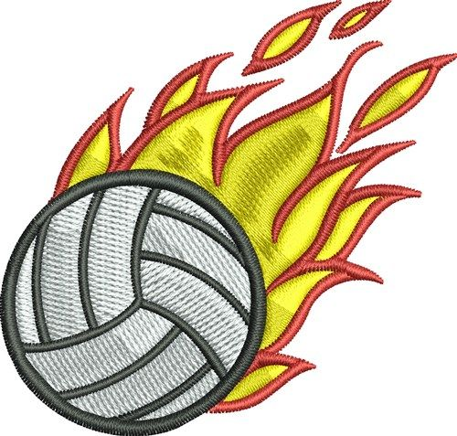 Flaming Volleyball Embroidery Designs Machine Embroidery Designs At Embroiderydesigns Com Machine Embroidery Designs Machine Embroidery Embroidery